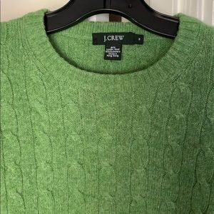J Crew Lambswool & Cashmere Cable Knit Sweater